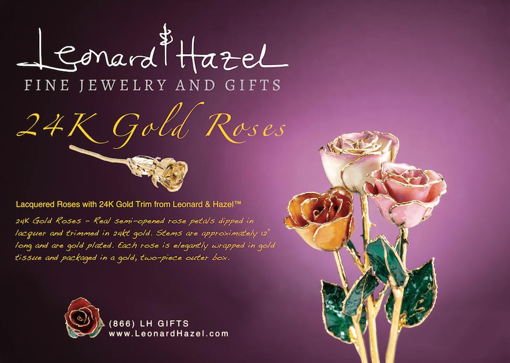 24K Gold Roses from Leonard & Hazel™ Fine Jewelry & Gifts